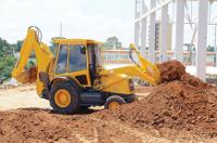 retro escavadeira carregadeira motoniveladora rolo compactador